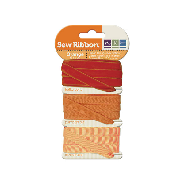 מארז סרטי בד - Sew Ribbon - Ribbon Set Orange