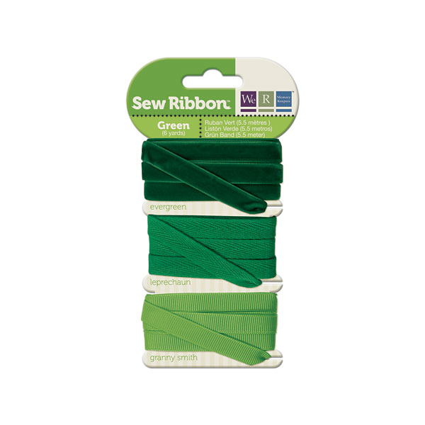 מארז סרטי בד - Sew Ribbon - Ribbon Set Green