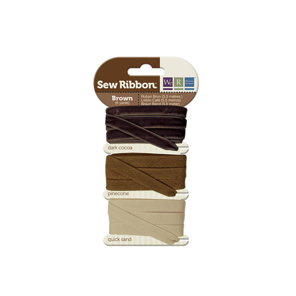מארז סרטי בד - Sew Ribbon - Ribbon Set Brown