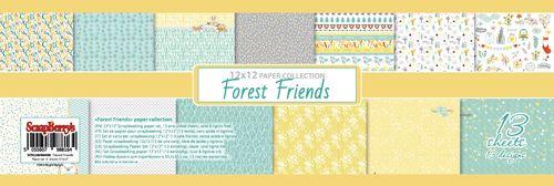 """מארז דפי קארדסטוק - 12X12"""" Forest Friends"""