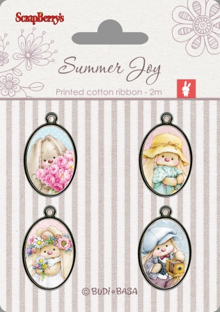 Metal Elements with Epoxy Stickers - Summer Joy 1