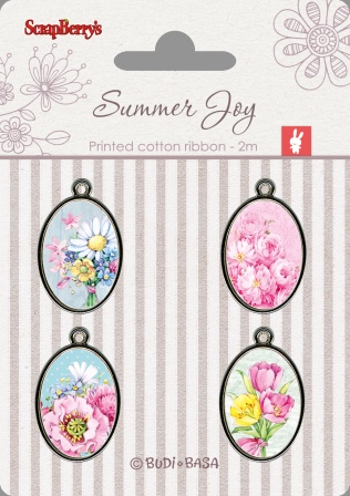 Metal Elements with Epoxy Stickers - Summer Joy 2
