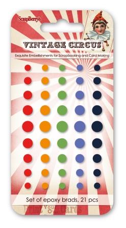 מדבקות אפוקסיות - Enamel Epoxy Stickers - Vintage circus 3