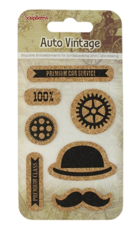 מדבקות שעם - Cork Stickers - Auto Vintage