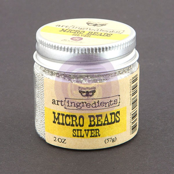 Art Ingredients-Micro Beads: Silver