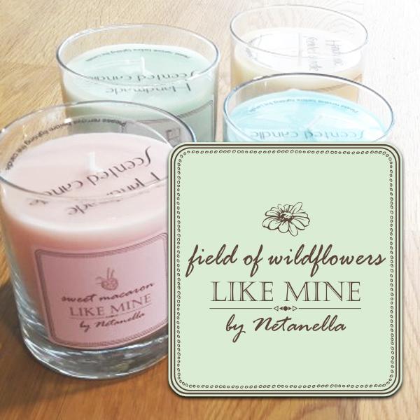 נר צילינדר קטן - Fields of Wildflowers