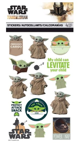 מארז מדבקות - Disney Star Wars Baby Yoda Stickers