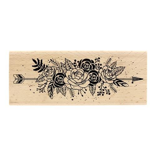 חותמת עץ - Fleurs et Plums