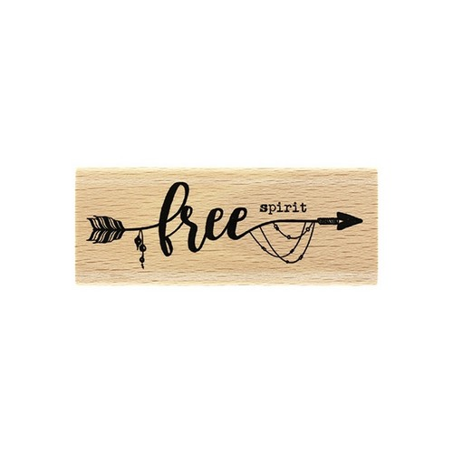 חותמת עץ - Free Spirit