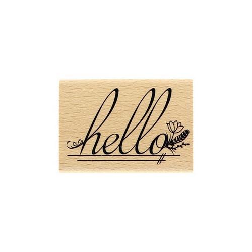 חותמת עץ - Hello Fleuri