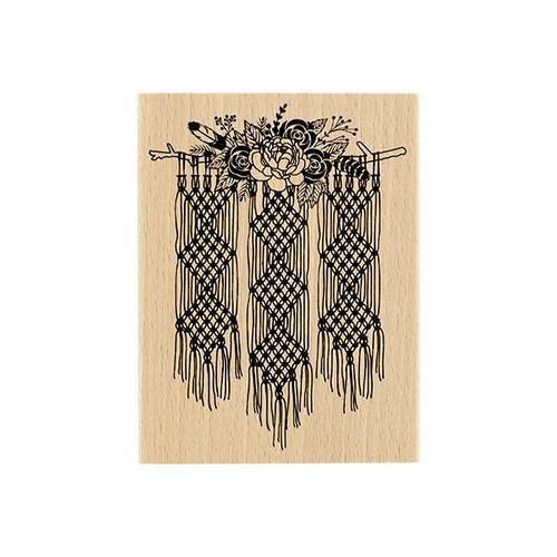 חותמת עץ - Macarame Floral