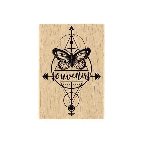 חותמת עץ - Papillon Du Souvenir