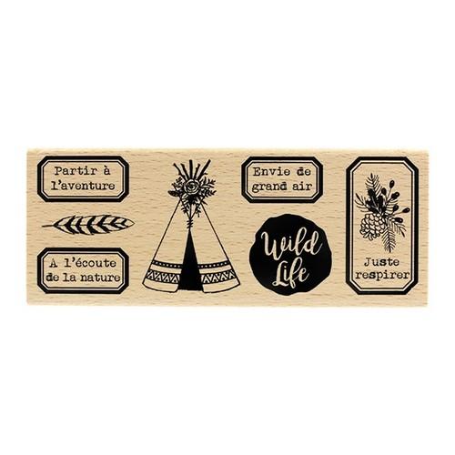 חותמת עץ - Wild Life