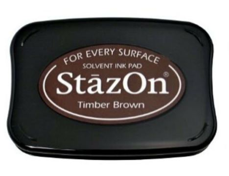 דיו יבש StazOn Solvent Ink Pad - Timber Brown