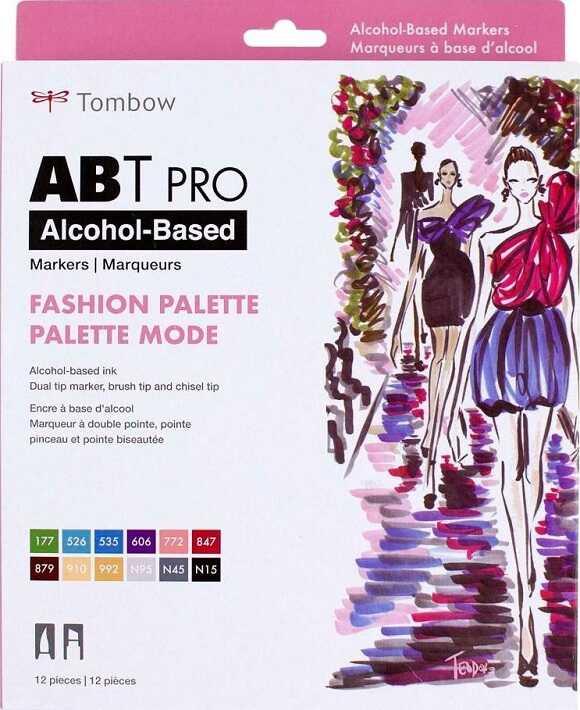 מארז 12 טושים אלכוהוליים - גווני אופנה - Tombow 56963