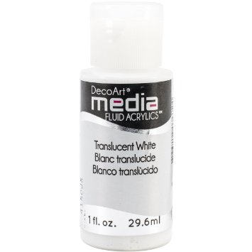 DecoArt Media Fluid Acrylic Paint - Translucent White