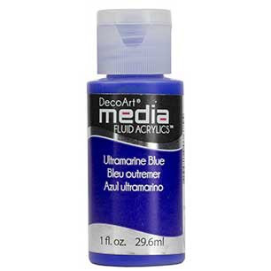 DecoArt Media Fluid Acrylic Paint - Ultramarine Blue