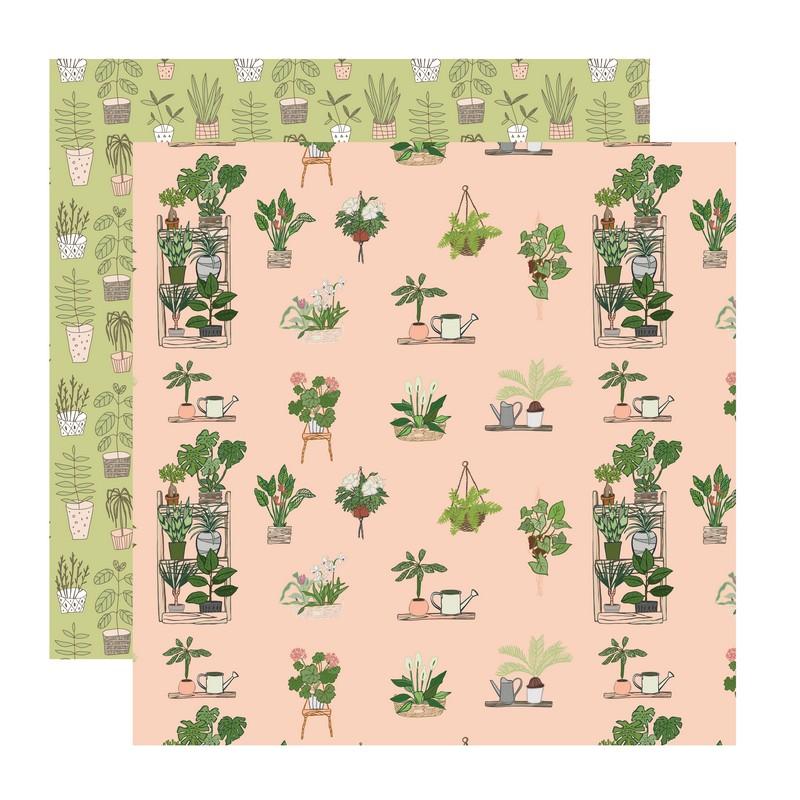 דף קארדסטוק- Urban Jungle- צמחי בית