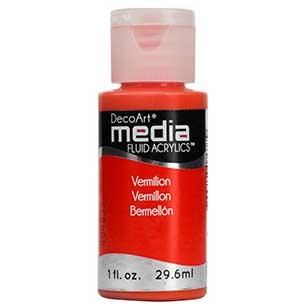 DecoArt Media Fluid Acrylic Paint - Vermilion