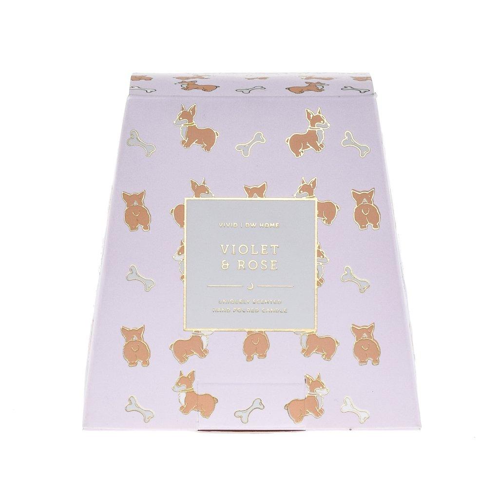 נר דגם כלבלב זהב - Violet & Rose
