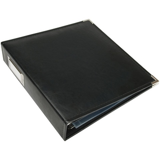 "12x12"" Leather Album- Black"