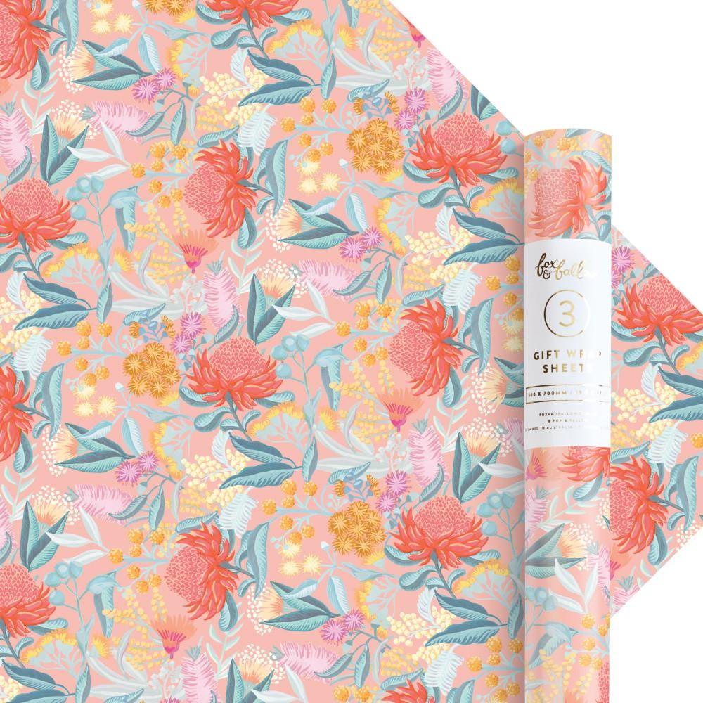נייר עטיפה- Wattle Gift Wrap