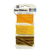 מארז סרטי בד - Sew Ribbon - Ribbon Set Gold