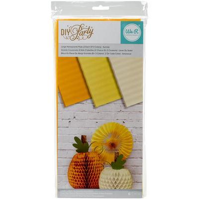 DIY Party Honeycomb Pads - Large Sunrise