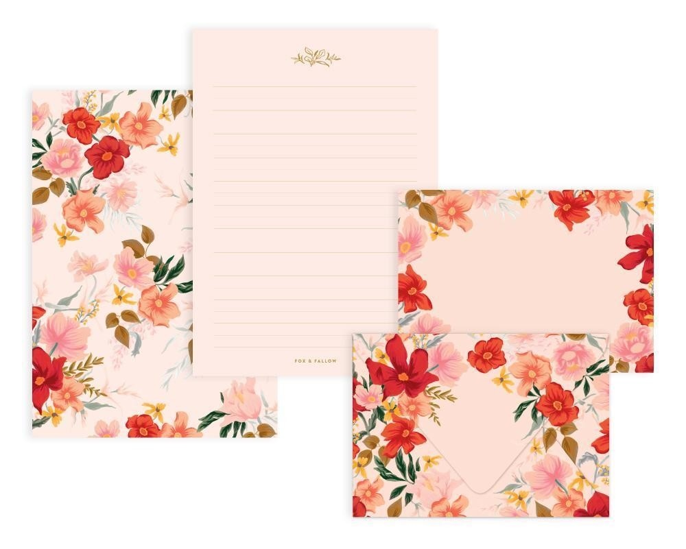 מארז דפי ממו ומעטפות- Florentine Writing Set
