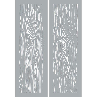 "Americana Decor Stencils 6""x18"" - Woodgrain"