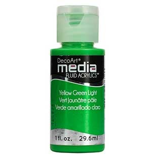 DecoArt Media Fluid Acrylic Paint - Yellow Green Light