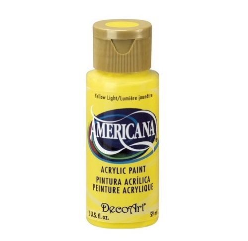 Americana Acrylic Paint - Yellow Light